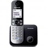 Telefon DECT PANASONIC KX-TG6811FXB, negru/gri, fara fir