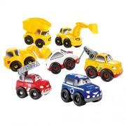 Ecoiffier 3239 - Gioco di costruzioni, Cofanetto Fast Car con 7 diverse macchinine