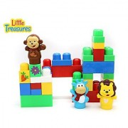 Forest Animals Big Size Building block 30 pieces Mega Blocks compatible toy set for 12+ months toddlers