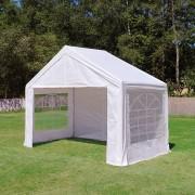 Profizelt24 Partyzelt 4x2m PE weiß Gartenzelt, Festzelt, Pavillon