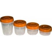 Set cutii alimente Twister 400+570+750+950 ml