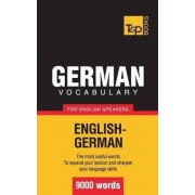 German Vocabulary for English Speakers - 9000 Words by Andrey Taranov