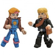 Diamond Select Toys Marvel Minimates Series 47: X-Men vs. Brood: Longshot and Dazzler 2-Pack