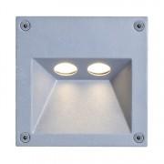 energie A+, LED-buitenlamp Rectangle - aluminium zilverkleurig 2 lichtbronnen, Näve
