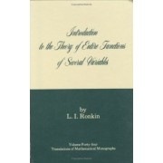 Introduction to the Theory of Entire Functions of Several Variables by Israel Program for Scientific Translations