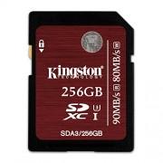 Kingston Digital 256GB SDXC UHS-I Speed Class 3 90MB/s Read 80MB/s Write Flash Memory Card (SDA3/256GB)
