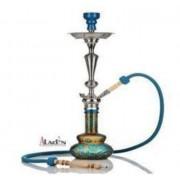 Aladin Loop 70 cm vízipipa — türkízkék-arany
