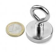 Magnet neodim oala cu inel, diametru 32 mm, putere 30 kg