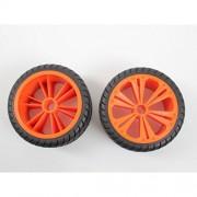 Revell 47026 2 x Räder orange, groß (Buggy) 1:14