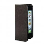 Husa Flip Cover Verbatim Folio Pocket maro pentru Apple iPhone 5