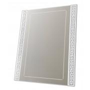 - Miroir design blanc rectangulaire à motifs brillants - Steed
