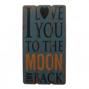 Afbeelding Love to the Moon - blauw, My Flair