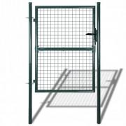 vidaXL Градинска мрежеста оградна врата, 85,5 х 125 см / 100 175