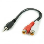 3.5mm - 2x RCA kabl 0.2m Gembird CCA-406