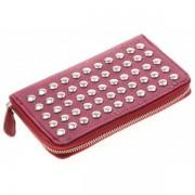 Dames portemonnee Studs Rood met Zilver S-O3.4