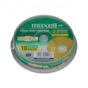 DVD+R MAXELL DOUBLE LAYER 8.5GB 8X PACK 10