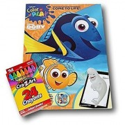 Finding Dory Color and Play Book with Cra-Z-Art Crayons Bundle - 8'' x 11''