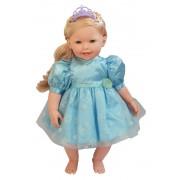 Boneca Charmosa Princesa Loira com Dentinhos e Articulação Cotiplas