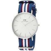 Daniel Wellington 0213DW - Reloj con correa de acero para hombre, color blanco / gris