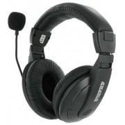 Casti 4World 04165, Stereo cu microfon, 3m (Negre)