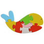 Skillofun Wooden Take Apart Puzzle Whale, Multi Color