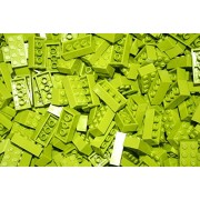 Best Value 200 Bright Yellowish-Green Lime 2x4 2x4 Generic Building Bricks Alternative Option to Lego 2x4 3001 Brick