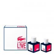 Lacoste live confezione regalo 100 ml edt + 40 ml edt profumo uomo