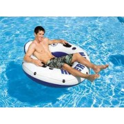 Intex Inflatable River Run - Sporty Pool Raft and Lounge - Durable