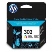 HP ink F6U65AE, No.302, color, 165/165/165s, 4ml, HP OJ 3830,3834,4650, DJ 2130,3630,1010, Envy 4520