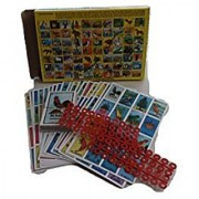 Loteria Mexicana Family Board Game Box with 20 Boards and Snakes and Ladders Game on the Back