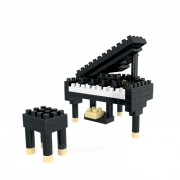 WLTOYS 6630 Piano Building Blocks Educational Toy for Children / Kids - Black + White