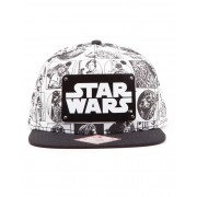 Star Wars Comic Style Snapback шапка с козирка и метална плочка