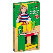 400380 Kids / Children Wooden Workbench with Tools 33 pcs - Untranslated
