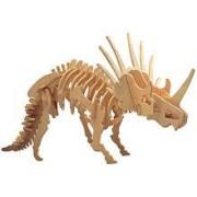 Desconcertado 3103 Gran Styracosaurus 3D Madera Natural Puzzle - 41 Piezas