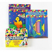 Do A Dot Art! Rainbow 6 Pack Washable Markers with Colorful Critters and Discovering My World Activity Coloring Books
