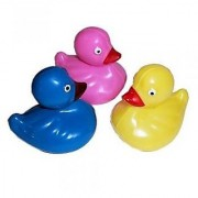 12 flooating plastic ducks - duck pond carnival ducks (Assorted colors)