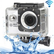 H16 1080P Portable WiFi Waterproof Sport Camera 2.0 inch Screen 170 A+ Degrees Wide Angle Lens Support TF Card (White)