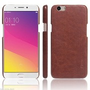 Octer Cover For Oppo F1s Leather Back Cover (Brown)