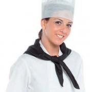Pañuelo, pico de cocinero unisex Negro