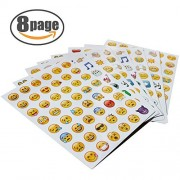 EMOJI Sticker 8 Pages Happy Face Stickers Decorative Funny Emotion Faces from Facebook iPhone