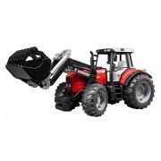 Bruder - 2042 - Véhicules sans piles - Tracteur Massey Fergusson 7480 Rouge avec fourche