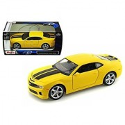 New 1:24 W/B SPECIAL EDITION - YELLOW 2010 CHEVROLET CAMARO SS RS Diecast Model Car By Maisto