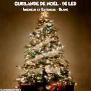 Guirlande de noël blanche - 96 LED
