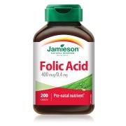 Фолиева киселина Jamieson 0,4 мг, 200 таблетки
