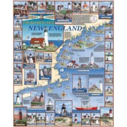 White Mountain Puzzles Lighthouses of New England - 1000 Piece Jigsaw Puzzle by White Mountain Puzzles