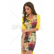 Rochie MissQ Longer Cut Yellow