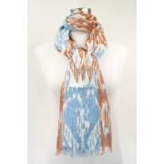 Mooie linnen sjaal met vrolijke print