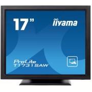 "Monitor TN LED iiyama 17"" T1731SAW-B1, VGA, DVI-D, 5 ms, Touchscreen, Boxe (Negru) + Bitdefender Antivirus Plus 2017, 1 PC, 1 an, Licenta noua, Scratch Card"