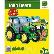 Masterpieces John Deere Shaped Johnny Tractor Floor Puzzle (36-Piece)