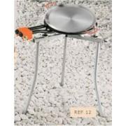 Kit paellero de gas butano 600MM + Soporte plegable + Complementos + Paella Valenciana 70cm